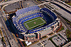 aerial view, of M&T Bank Stadium, home of the Baltimore Ravens