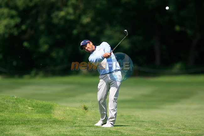 Shiv Kapur (IND) plays his 2nd shot on the 7th hole during Day 2 of the BMW International Open at Golf Club Munchen Eichenried, Germany, 24th June 2011 (Photo Eoin Clarke/www.golffile.ie)