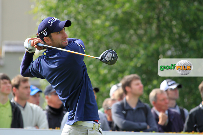Seve Benson (ENG) tees off on the 1st tee to start the Final Day of the BMW PGA Championship Championship at, Wentworth Club, Surrey, England, 29th May 2011. (Photo Eoin Clarke/Golffile 2011)