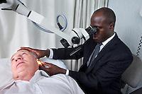 Consultant ENT Head & Neck Surgeon patient ear examination