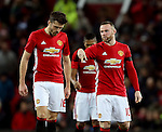 Michael Carrick of Manchester United talks with Wayne Rooney of Manchester United during the English League Cup Quarter Final match at Old Trafford  Stadium, Manchester. Picture date: November 30th, 2016. Pic Simon Bellis/Sportimage