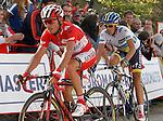 Joaquin Purito Rodriguez and Alberto Contador during the stage of La Vuelta 2012 between La Robla and Lagos de Covadonga.September 2,2012. (ALTERPHOTOS/Acero)