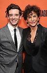 Michael Urie and Mercedes Ruehl attends the Off-Broadway Opening Night After Party for the Second Stage Production on 'Torch Song' on October 19, 2017 at Copacabana in New York City.