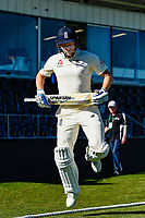 Jonny Bairstow of England heads out to bat during Day 2 of the Second International Cricket Test match, New Zealand V England, Hagley Oval, Christchurch, New Zealand, 31th March 2018.Copyright photo: John Davidson / www.photosport.nz