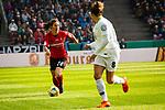 01.05.2019, RheinEnergie Stadion , Köln, GER, 1.FBL, Borussia Dortmund vs FC Schalke 04, DFB REGULATIONS PROHIBIT ANY USE OF PHOTOGRAPHS AS IMAGE SEQUENCES AND/OR QUASI-VIDEO<br /> <br /> im Bild | picture shows:<br /> Virginia (SC Freiburg Frauen #25) mit Babett Peter (VfL Wolfsburg #8), <br /> <br /> Foto © nordphoto / Rauch