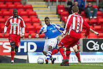 St Johnstone v Kilmarnock.....09.03.13      SPL.Nigel Hasselbaink is pulled back.Picture by Graeme Hart..Copyright Perthshire Picture Agency.Tel: 01738 623350  Mobile: 07990 594431