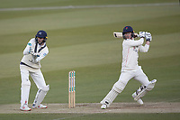 Alex Davies of Lancashire CCC cuts backward of point for a boundary during Middlesex CCC vs Lancashire CCC, Specsavers County Championship Division 2 Cricket at Lord's Cricket Ground on 13th April 2019