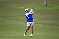 Shanshan Feng (CHN) in action on the 1st during Round 1 of the HSBC Womens Champions 2018 at Sentosa Golf Club on the Thursday 1st March 2018.<br /> Picture:  Thos Caffrey / www.golffile.ie<br /> <br /> All photo usage must carry mandatory copyright credit (&copy; Golffile | Thos Caffrey)