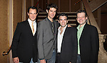 'Jersey Boys' cast: Matt Bogart, Drew Gehling, Jarrod Spector and Jeremy Kushnier attend the reception for Frankie Valli and the Four Seasons  50th Anniversary Celebration & Broadway debut in 'The One. The Only. The Original.' at the Broadway Theatre on 10/19/2012 in New York City.