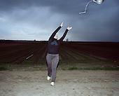 Szkaradowo 19.04.2016 Poland <br /> Beata Wybierala is training the hammer throw on her family field. <br /> Photo: Michal Adamski / Napo Mentor<br /> <br /> Beata wybierala trenuje rzut mlotem na rodzinnym polu.<br /> Photo: Michal Adamski / Napo Mentor
