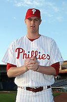 Feb 20, 2009; Clearwater, FL, USA; The Philadelphia Phillies pitcher Kyle Kendrick (38) during photoday at Bright House Field. Mandatory Credit: Tomasso De Rosa/ Four Seam Images