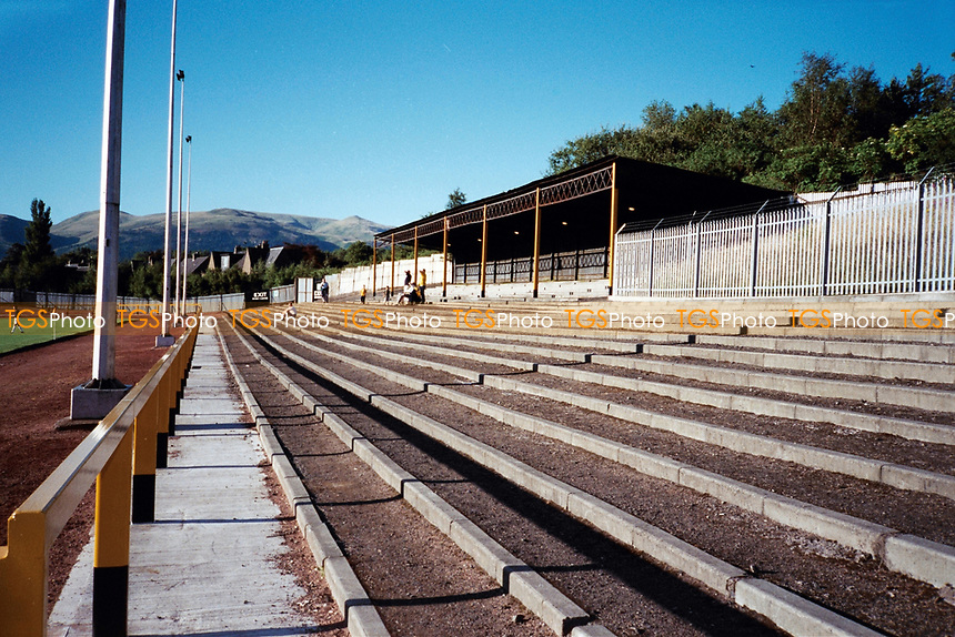 Terracing at Alloa Athletic FC Football Ground, Recreation Park, Alloa, Scotland, pictured on 26th July 1999