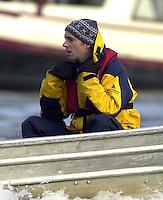 London, GREAT BRITAIN. Oxford University Boat Club Trail VIIIs. Putney to Mortlake. Jon Singfield Varsity: Boat Race  [Mandatory Credit: Peter Spurrier: Intersport Images]