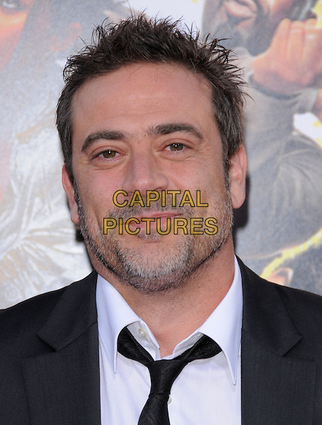 "JEFFREY DEAN MORGAN .at the Warner Bros. Pictures L.A. Premiere of ""The Losers"" held at The Grauman's Chinese Theatre in Hollywood, California, USA,.April 20th 2010..arrivals portrait headshot black shirt beard facial hair stubble white .CAP/RKE/DVS.©DVS/RockinExposures/Capital Pictures."