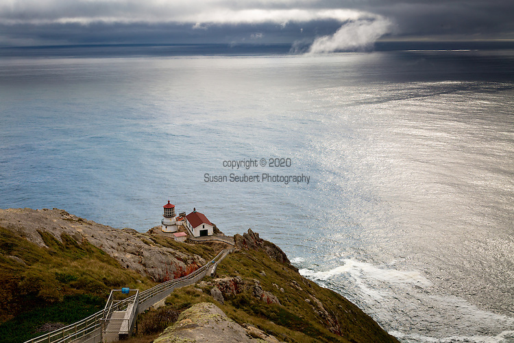 The Point Reyes Lighthouse on the Pacific Ocean, California, USA