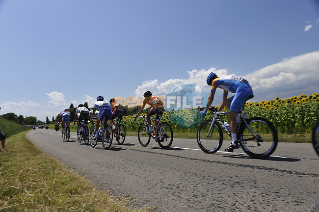 The large breakaway group in action during Stage 19 of the Tour de France 2009 running 178km from Bourgoin-Jallieu to Aubenas, France. 24th July 2009 (Photo by Eoin Clarke/NEWSFILE)