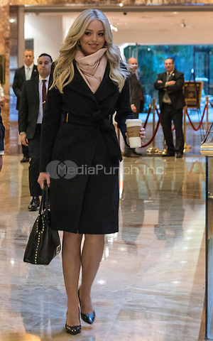 Tiffany Trump leaves Trump Tower in New York, NY, USA on January 19, 2017.  <br /> Credit: Maite H. Mateo / Pool via CNP /MediaPunch