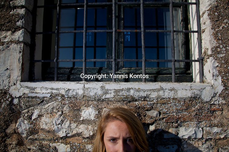 Greek student Ersi Kyrochristou,17, in Ioannina.