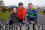 Pictured at the Fenit Coastal Cycle on Saturday were l-r: Tracy O'Flaherty (Ardfert) Denis Healy (Ardfert) Michael O'Flaherty (Ardfert.