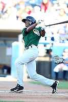 South Bend Silver Hawks outfielder Keon Broxton (1) during a game vs. the West Michigan Whitecaps at Fifth Third Field in Comstock Park, Michigan August 16, 2010.   West Michigan defeated South Bend 3-2.  Photo By Mike Janes/Four Seam Images