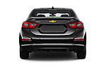 Straight rear view of 2017 Chevrolet Cruze LT-Auto 4 Door Sedan Rear View  stock images