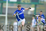 "Padraig Begley Kerins O'Rahillys Christopher O""Riordan  Laune Rangers in the Kerry Club U-21 Championship Final at Fitzgerald Stadium on Sunday."