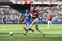 West Ham United's Robert Snodgrass with a first half shot<br /> <br /> Photographer Rob Newell/CameraSport<br /> <br /> The Premier League - West Ham United v Leicester City - Saturday 20th April 2019 - London Stadium - London<br /> <br /> World Copyright © 2019 CameraSport. All rights reserved. 43 Linden Ave. Countesthorpe. Leicester. England. LE8 5PG - Tel: +44 (0) 116 277 4147 - admin@camerasport.com - www.camerasport.com