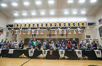 NWA Democrat-Gazette/BEN GOFF @NWABENGOFF<br /> Bentonville athletes sign their national letters of intent Wednesday, Feb. 6, 2019, during a signing ceremony at Bentonville's Tiger Arena.