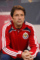 CD Chivas USA head coach Preki Radosavljevic. The New York Red Bulls defeated CD Chivas USA 1-0 during a Major League Soccer match at Giants Stadium in East Rutherford, NJ, on June 5, 2008.