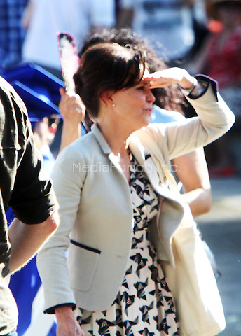 NEW YORK, NY - JUNE 1: Sally Field as Aunt May shooting a graduation day scene on the set of The Amazing Spider-Man 2 in New York City. June 1, 2103. Credit: RW/MediaPunch Inc.