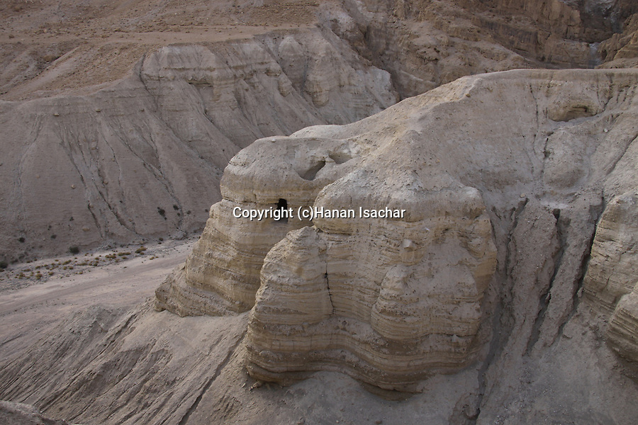 Dead Sea valley, cave 4 at Qumran