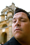 Dom Joly at Blenheim Palace during the Woodstock Literary Festival, Woodstock, Oxfordshire, UK. 19 September 2010. Photograph copyright Graham Harrison.