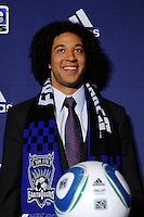 San Jose Earthquakes draft pick Justin Morrow during the MLS SuperDraft at the Pennsylvania Convention Center in Philadelphia, PA, on January 14, 2010.