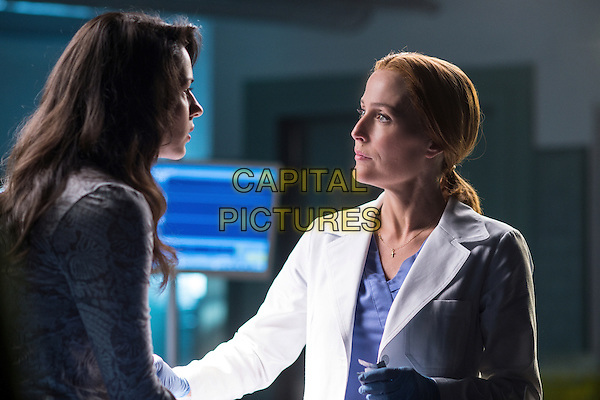 The X-Files (2016)<br /> (Season 1, Episode 1, &quot;My Struggle&quot;)<br /> Guest star Annet Mahendru and Gillian Anderson<br /> *Filmstill - Editorial Use Only*<br /> CAP/KFS<br /> Image supplied by Capital Pictures