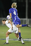 7 November 2007: Duke's Gretchen Miller (4) goes over the back of a Wke Forest player. Wake Forest University defeated Duke University 1-0 in overtime at the Disney Wide World of Sports complex in Orlando, FL in an Atlantic Coast Conference tournament quarterfinal match.