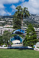Sky Mirror sculpture in Monaco.