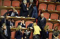 Roma, 2 Ottobre 2013<br /> Senato <br /> Silvio Berlusconi dopo la dichiarazione di  Fiducia al Governo Letta