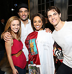 Christy Altomare, Ramin Karimloo, Shina Ann Morris and Derek Klena   attends Actors' Equity Broadway Opening Night Gypsy Robe Ceremony honoring Shina Ann Morris for  'Anastasia' at the Broadhurst Theatre on April 24, 2017 in New York City.