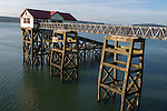 Old lifeboat station, Mumbles, Gower peninsula, near Swansea, South Wales, UK