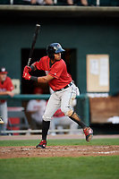 Erie SeaWolves second baseman Willi Castro (11) at bat during a game against the Harrisburg Senators on August 29, 2018 at FNB Field in Harrisburg, Pennsylvania.  Harrisburg defeated Erie 5-4.  (Mike Janes/Four Seam Images)