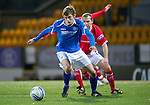 St Johnstone v Brechin...07.01.12  Scottish Cup Round 4.Murray Davidson tracked by Garry Brady.Picture by Graeme Hart..Copyright Perthshire Picture Agency.Tel: 01738 623350  Mobile: 07990 594431