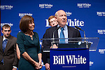 Bill White, the 2010 Democratic candidate in the Texas governors race, delivers his concession speech in Houston, Texas.