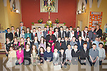 Pupils from O? Brennan's NS, Ballymacelligott who were confirmed on Wednesday in St Brendan's Church, Cloghers by the Bishpop of Kerry Bill Murphy and also in pic were Fr Pat Crean Lynch, Mike Sweeney (principal) and Andrea Brosnan. Pupils: Jordan Bowler, Graham Breen, Nicole Broderick, Joseph Cassidy, Eoin Edwards, Michael Godley, Shane Godley, Eoin Hennessy, Courtney Hurley, Jamie Leen, Michelle Lynch, Eoin Lyons, Sam Mansfield,Emer McCarthy, Oisin McKeown, Cillian Mullins, Padraig O'Connor, Charlie O'Grady, Jason O'Meara, Jack O'Shea, Amy Sweeney, Fionn van der Noll, Aoife Brick, David Corkery, Edel Crowley, Robert Dowd, Hannah Edwards, Gary Horan, David Long, Ross Mansfield, Maeve O'Connell, Brian O'Connor, Tomas O'Connor, Jerdie O'Shea, Adam O'Sullivan, Aoife O'Sullivan, Ryan O'Sullivan, Michael Reidy, Claire Shanahan, Clodagh Carey,Michaela Hennessy and Michaela Sugrue.................................. ....