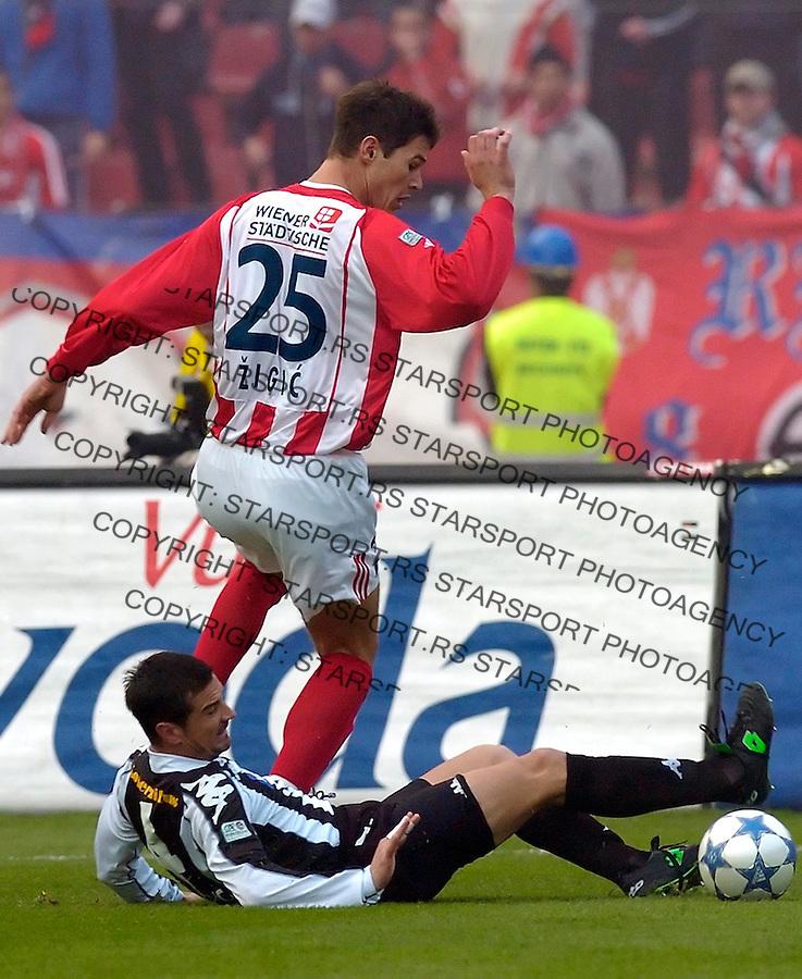 fudbal, prva liga, sezona 2005/2005&amp;#xA;CRVENA ZVEZDA-PARTIZAN&amp;#xA;NIKOLA ZIGIC &amp; ZORAN BATA MIRKOVIC&amp;#xA;BGD, 10.15.2005.&amp;#xA;FOTO: SRDJAN STEVANOVIC<br />