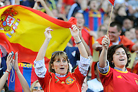 Spain fans celebrate. The men's national team of Spain (ESP) defeated the United States (USA) 4-0 during a International friendly at Gillette Stadium in Foxborough, MA, on June 04, 2011.