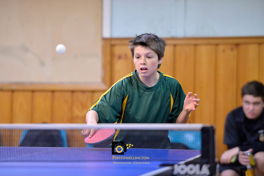 College Table Tennis Individual Championships at Empire, Lower Hutt, Wellington, New Zealand on Friday 2 August 2013.<br /> Photo by Masanori Udagawa. <br /> www.photowellington.photoshelter.com