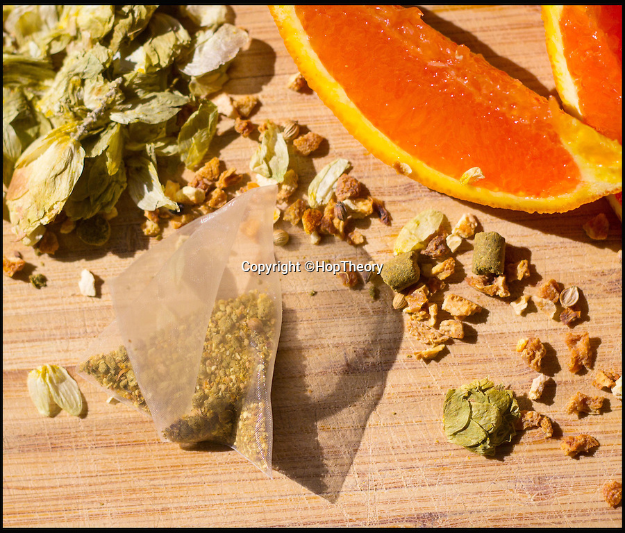 BNPS.co.uk (01202 558833)<br /> Pic: HopTheory/BNPS<br /> <br /> The teabag containing Hops, Orange and other ingredients<br /> <br /> Brewed to a tea... <br /> <br /> You don't need a brewery to create a craft beer, thanks to this teabag you can transform an ordinary lager in just two minutes.<br /> <br /> These beer-bags work in the same way as fruit teas, but instead of infusing hot water you pop it in your pint.<br /> <br /> Hop Theory say their sachets, which contain a blend of hops, fruit peels and natural spices, give a better flavour without the cost or calories of a craft beer.<br /> <br /> Each 5g sachet can transfuse up to four beers, so one bag could keep you going for a session at the pub.