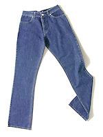 Off Figure Styling Denim Jeans Apparel Shot Flat