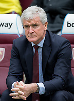 Southampton Manager Mark Hughes during the EPL - Premier League match between West Ham United and Southampton at the Olympic Park, London, England on 31 March 2018. Photo by Andy Rowland.