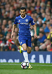 Pedro of Chelsea in action during the English Premier League match at Old Trafford Stadium, Manchester. Picture date: April 16th 2017. Pic credit should read: Simon Bellis/Sportimage